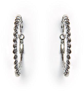 MANGO TOUCH - Chain hoop earrings