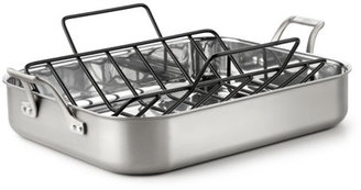 Calphalon 14x16-in. Stainless Steel AccuCore Roaster with Rack