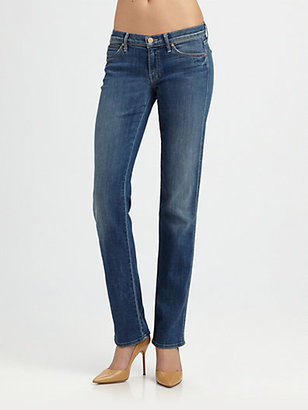 Mother The Rascal Straight-Leg Jeans