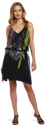 Calvin Klein Jeans Women's Tropical Leaf Print Dress