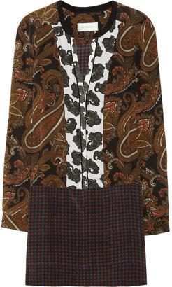 A.L.C. Whitney printed silk crepe de chine dress
