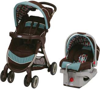 Graco FastAction Fold Click Connect Travel System Stroller - Happy Hedgehog