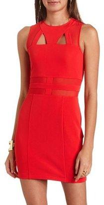 Charlotte Russe Mesh Cutout Body-Con Dress