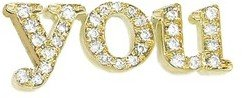 Jennifer Meyer Diamond You Stud - Yellow Gold
