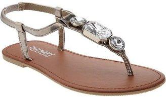 Old Navy Girls Metallic Jeweled Sandals