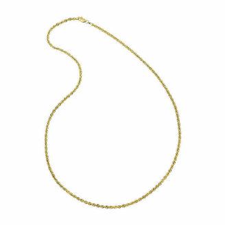 FINE JEWELRY Solid 14K Gold Glitter Rope 18-30 2.5mm Chain