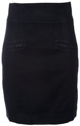 Balmain Pierre waxed pencil skirt