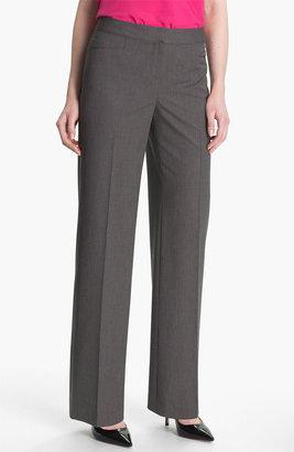 Halogen 'Taylor' Mini Check Curvy Fit Pants