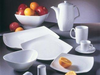 Ten Strawberry Street Set of 6 Aurora Contour Bowls, White
