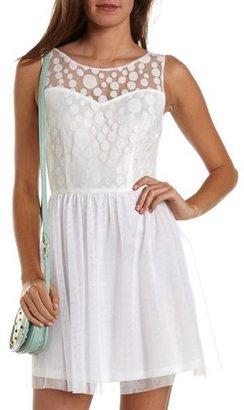 Charlotte Russe Mesh Dot A-Line Dress