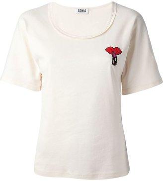 Sonia Rykiel Sonia By kiss lipstick t-shirt
