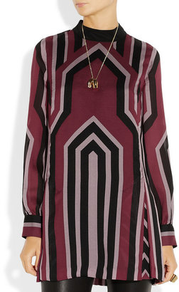 Anna Sui Geometric-print silk-crepe tunic