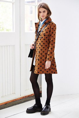 Urban Outfitters Compania Fantastica Heart Print Belted Trench