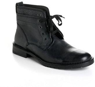 John Varvatos U.S.A. Driggs Leather Hidden-Lace Half Boots