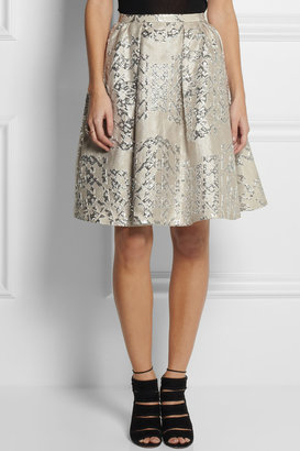 Peter Pilotto Metallic jacquard circle skirt