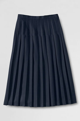 Lands' End Women's Solid Long Pleated Skirt