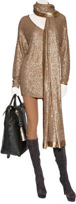 Donna Karan Blush all-over sequin sweater