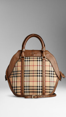 Burberry The Medium Orchard in Horseferry Check and Alligator