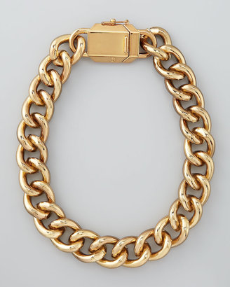 Tory Burch Charlie Box Chain Necklace