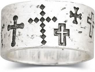 Silver Cross FINE JEWELRY Sterling Silver Walk Beside Me Cross Ring