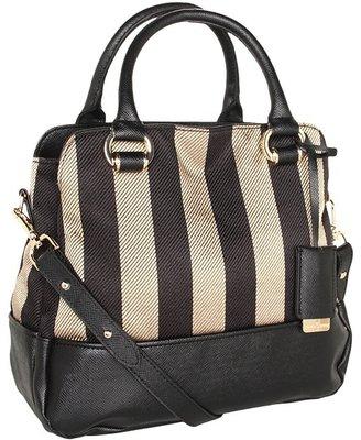 Ivanka Trump Arabella Top Handle Satchel (Black 1) - Bags and Luggage