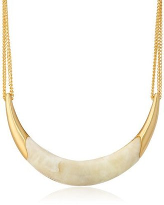 """Vince Camuto Gold-Plated and Resin Horn Necklace, 18"""""""