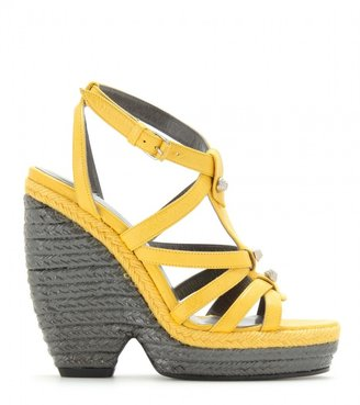 Balenciaga TRAINER ESPADRILLE WEDGE SANDALS