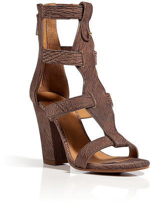 Chloé Strappy Leather Sandals in Mud