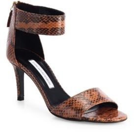 Diane von Furstenberg Kinder Watersnake Ankle-Strap Sandals