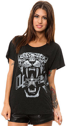 Obey The Panther Scuzz Tee in Vintage Black