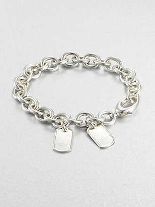 Gucci Double Tag Sterling Silver Bracelet