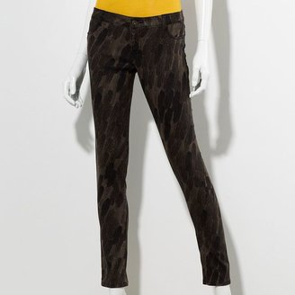Vera Wang Princess feather printed skinny stretch jeans - juniors