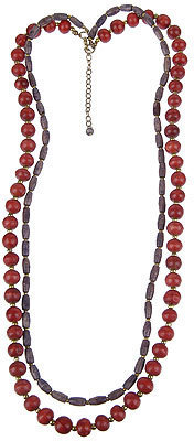 Forever 21 Double Strand Beaded Necklace