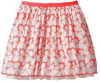 Gap Tulle trim eyelet skirt
