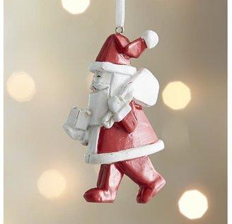 Crate & Barrel Origami Santa With Presents Ornament