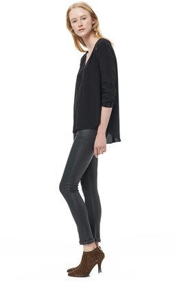 Rebecca Taylor Long Sleeve V-Neck Top