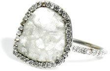 Susan Foster Diamond slice & diamond micro-pavé ring