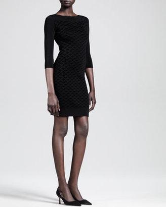 The Row Velvet Grid-Print Dress