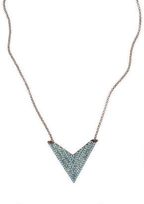 Delia's Blue Pave Arrow Necklace