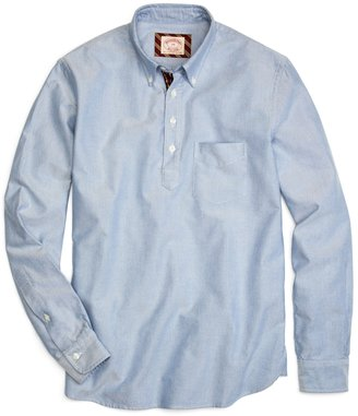 Brooks Brothers Solid Oxford Popover Sport Shirt