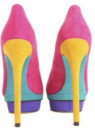 Brian Atwood Fontanne Suede Colorblock Pump