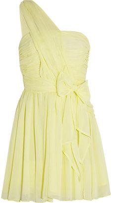Kate Moss for Topshop One-shoulder chiffon mini dress