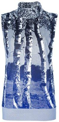 Balenciaga Silver birch sleeveless top
