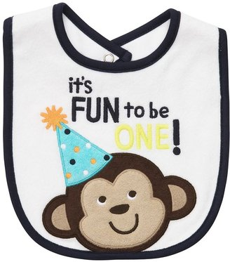 Carter's monkey first birthday bib