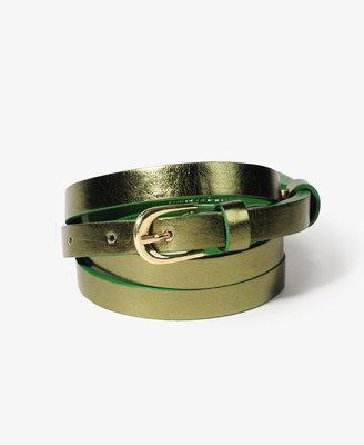 Forever 21 FOREVER 21+ Shimmer Skinny Belt