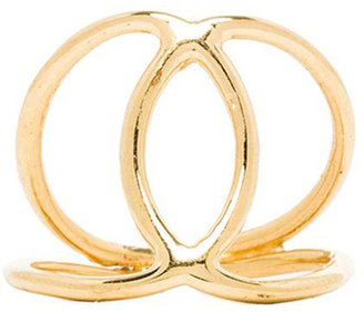 Jacquie Aiche Hammered Overlap Circles Ring