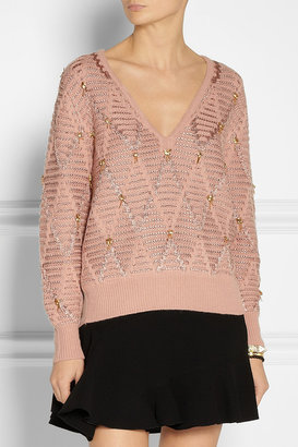 Thakoon Beaded wool-blend sweater