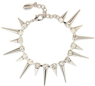 GUESS Bracelet With Crystal Spikes (Silver) - Jewelry