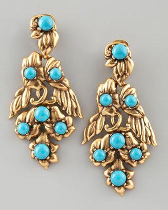 Oscar de la Renta Multi-Flower Drop Earrings
