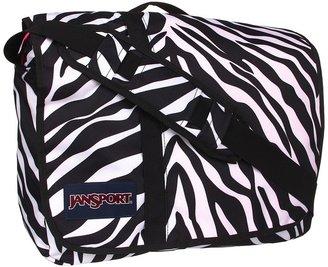 JanSport Market Street (Black/White Fluorescent Pink Miss Zebra) - Bags and Luggage